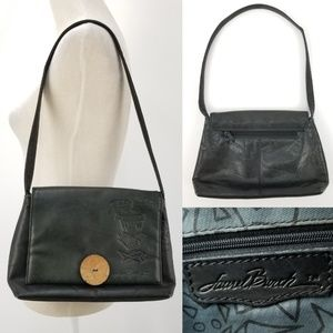 Laurel Burch Genuine Leather Embossed Shoulder Bag